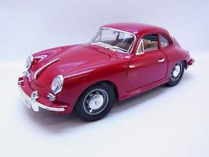 【送料無料】模型車 モデルカー スポーツカー ポルシェクーペダークレッドモデルカー48366 burago porsche 356 b coupe 1961 dunkelrot diecastmodellauto 118