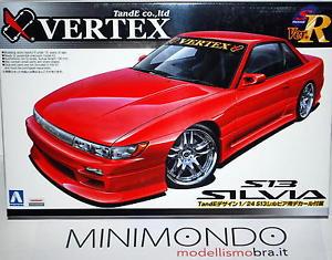 【送料無料】模型車 モデルカー スポーツカー キットシルビアkit vertex nissan silvia s13 124 aoshima 03977