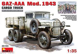 【送料無料】模型車 モデルカー スポーツカー ソキットcamion sovietique gazaa mod 1943 5 figurines kit miniart 135 n 35133
