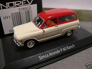【送料無料】模型車 モデルカー スポーツカー 143 norev simca p60 ranch kombi 576012