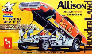 【送料無料】模型車 モデルカー スポーツカー モデルキットアリソンキングィスkit allison thunderland 125 model king amt 21877