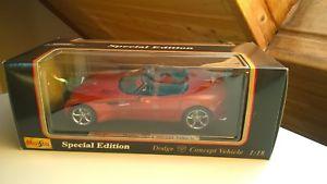 【送料無料】模型車 モデルカー スポーツカー ダッジオレンジメタリックモデルカーdodge concept car 1997 orangemetallic  modellauto 118 maisto in ovp