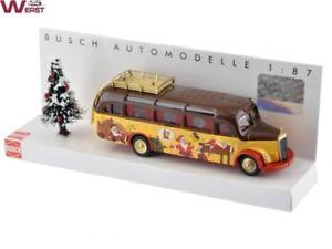 【送料無料】模型車 モデルカー スポーツカー ブッシュメルセデスベンツバスクリスマスbusch 41000114 mercedes benz o3500 weihnachtsbus 2017 h0 187 neu amp; ovp
