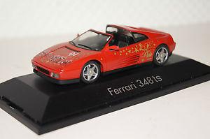 【送料無料】模型車 モデルカー スポーツカー フェラーリクリスマスモデルレッドferrari 348ts weihnachtsmodell 1994 rot 143 herpa neu ovp 183000
