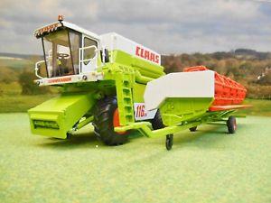 【送料無料】模型車 モデルカー スポーツカー ハーベスターヘッダートレーラーwiking claas commandor 116cs combine harvester grain header amp; trailer 132 7834