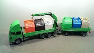 【送料無料】模型車 モデルカー スポーツカー ターボリサイクルトレーラsiku 3813 iveco turbo recycling hngerzug *vi5423