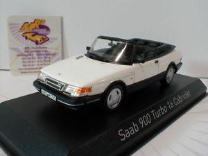 【送料無料】模型車 モデルカー スポーツカー サーブターボカブリオレnorev 810043 saab 900 turbo 16 cabriolet baujahr 1992 in wei 143 neu