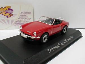【送料無料】模型車 モデルカー スポーツカー カブリオレnorev 350098 triumph spitfire mk4 cabriolet baujahr 1972 in rot 143 neu