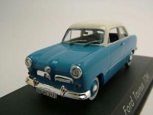 【送料無料】模型車 モデルカー スポーツカー フォードモデルカーford taunus 12m weltkugel 1954 blauwei, modellauto 143 norev