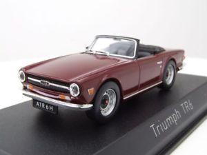 【送料無料】模型車 モデルカー スポーツカー ダークレッドモデルカーtriumph tr6 cabrio 1970 dunkelrot, modellauto 143 norev