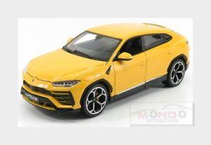 【送料無料】模型車 モデルカー スポーツカー ランボルギーニlamborghini urus 2017 yellow burago 118 bu11042y