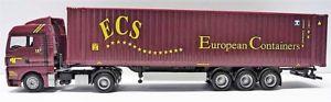 【送料無料】模型車 モデルカー スポーツカー herpa exclusive series h0 1743 man tgx 45 ft containersattelzug ecs, rotbraun