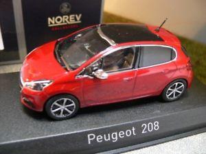 【送料無料】模型車 モデルカー スポーツカー プジョーメタリックレッド143 norev peugeot 208 2015 rotmetallic 472819