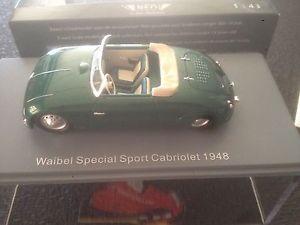 【送料無料】模型車 モデルカー スポーツカー ネオスポーツカブリオレneo 46190 waibel sport cabriolet 1948 143 resin modelcar