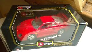 【送料無料】模型車 モデルカー スポーツカー モデルカーferrai f40 1987 3022 modellauto 118 bburago in ovp