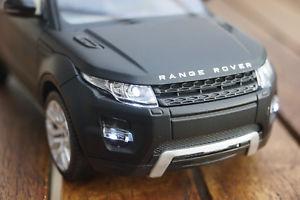 【送料無料】模型車 モデルカー スポーツカー ランドローバーレンジローバーキセノンland rover range rover evoque mit led beleuchtungxenon 124 schwarz