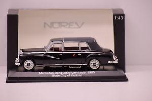 【送料無料】模型車 モデルカー スポーツカー メルセデスベンツバチカンmercedesbenz 300d landaulet 1960 city of vatican norev 143 neuve en boite