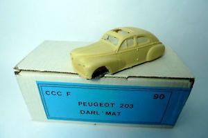 【送料無料】模型車 モデルカー スポーツカー プジョーキットpeugeot 203 darlmat kit ccc 143