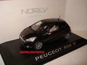 【送料無料】模型車 モデルカー スポーツカー プジョーnorev peugeot 208 xy purple night 2012 au 143