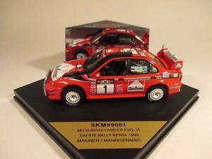 【送料無料】模型車 モデルカー スポーツカー スキッドランサーエボ#サファリラリーskid 143 mitsubishi lancer evo vi 1 safari rally 1999 makinen skm99051