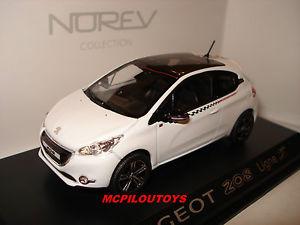 【送料無料】模型車 モデルカー スポーツカー プジョーnorev peugeot 208 ligne s white 2012 au 143
