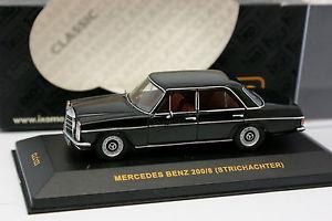 【送料無料】模型車 モデルカー スポーツカー ネットワークメルセデスノアールixo 143 mercedes 200 8 w114 noire