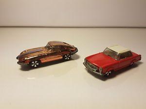 【送料無料】模型車 モデルカー スポーツカー メルセデスジャガーセットタイプコニャックダブルfaller hit car doppel set mercedes sl rot jaguar e type cognac 166