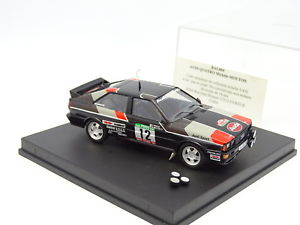 【送料無料】模型車 モデルカー スポーツカー アウディクワトロラリーデュポルトガルムートンtrofeu 143 audi quattro rallye du portugal 1981 mouton