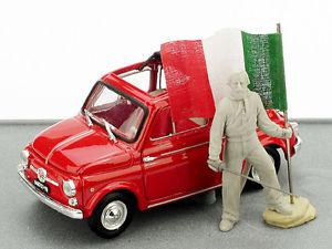 【送料無料】模型車 モデルカー スポーツカー フィアットジュゼッペガリバルディユニットモデルハムfiat 500 giuseppe garibaldi 150 unita ditalia 143 2011 model as150 brumm