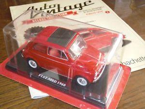 【送料無料】模型車 モデルカー スポーツカー フィアットヌォーヴァネットワークアシェットカービンテージモデルカーモデルカーfiat nuova 500 500d 1960 124 ixo hachette auto vintage model car modellauto