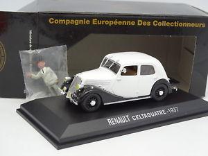 【送料無料】模型車 モデルカー スポーツカー ルノーキャnorev cec 143 renault celtaquatre 1937 grise figurine