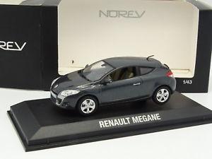 【送料無料】模型車 モデルカー スポーツカー ルノーメガーヌクーペシュルnorev 143 renault megane coupe grise