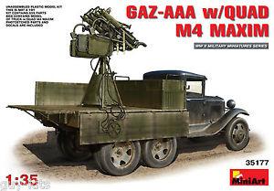 【送料無料】模型車 モデルカー スポーツカー ソクワッドマキシムキットcamion sovietique gazaaa avec quad m4 maxim aa kit miniart 135 n 35177