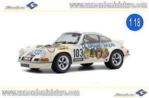 【送料無料】模型車 モデルカー スポーツカー ポルシェ#ルグランドバザールエシェルporsche 911 rsr 27 103 1973 le grand bazar solido so 1801106 echelle 118