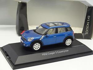 【送料無料】模型車 モデルカー スポーツカー ミニクーパーschuco 143 mini cooper s countryman bleue