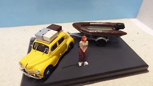 【送料無料】模型車 モデルカー スポーツカー ルノーバトーバカンスrenault 4cv bateau depart en vacances 143