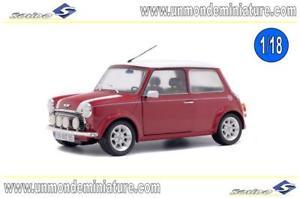 【送料無料】模型車 モデルカー スポーツカー ミニクーパースポーツエシェルmini cooper sport night fire red 97 solido so 1800602 echelle 118