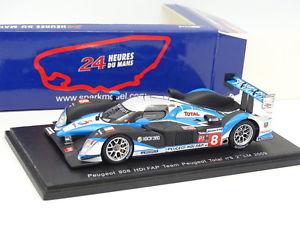 【送料無料】模型車 モデルカー スポーツカー プジョースパークルマンspark 143 peugeot 908 hdi fap total n8 le mans 2009