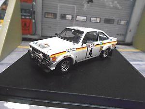 【送料無料】模型車 モデルカー スポーツカー フォードコスワースモロッコラリーエスコート#シェルford escort rs mkii rallye marokko maroc wm 1976 4 mkinen shell trofeu 143