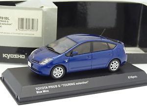 【送料無料】模型車 モデルカー スポーツカー トヨタプリウスkyosho 143 toyota prius bleue