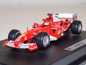 【送料無料】模型車 モデルカー スポーツカー マテルホットホイールミハエルシューマッハフェラーリ4x mattel hot wheels 143 ferrari f2004 michael schumacher