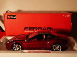 【送料無料】模型車 モデルカー スポーツカー シグネチャフェラーリカリフォルニアクローズトップタイプbburago ferrari signature california t closed top art1816902  118