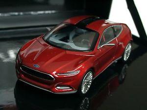【送料無料】模型車 モデルカー スポーツカー フォードコンセプトプレゼンテーションボックスレッドメタリックnorev ford evos concept rot metallic in prsentationsbox 143