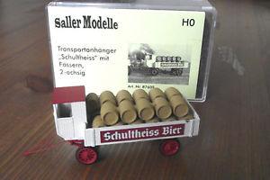 【送料無料】模型車 モデルカー スポーツカー トレーラーバレルsaller transportanhnger schultheiss mit fssern, 2achsig 187