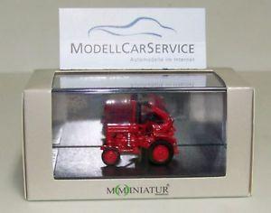 【送料無料】模型車 モデルカー スポーツカー トターカッターバーmominiatur 187 h0 20060 traktor fahr d 15, rot, mit mhbalken