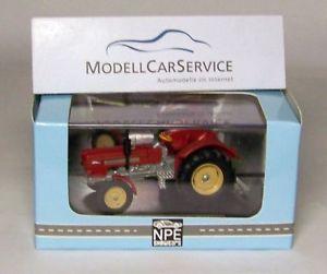 【送料無料】模型車 モデルカー スポーツカー モデルトターnpe modellbau 187 h0 na99026 traktor schlter s 900, rot