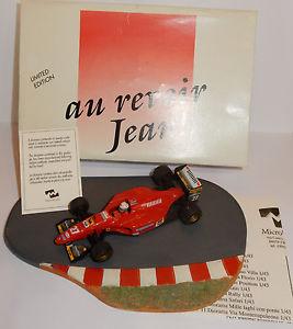 【送料無料】模型車 モデルカー スポーツカー オニキスマイクロミニワールドラジャンアレジフェラーリonyx micro world la mini miniera au revoir jean alesi ferrari 412 t1 f1 n27