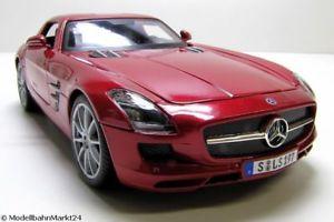 【送料無料】模型車 モデルカー スポーツカー メルセデスベンツメタリックスケールmaisto mercedes benz sls amg metallic scale 118 neu