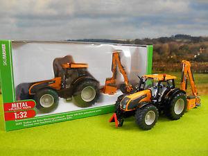 【送料無料】模型車 モデルカー スポーツカー オレンジトタークーンヘッジカッターsiku orange valtra t191 tractor amp; kuhn pro longer hedge cutter mower 132 3659