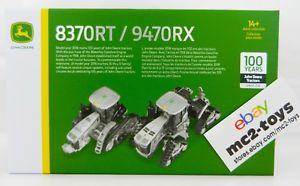 【送料無料】模型車 モデルカー スポーツカー ジョンディアモデルシルバートターセット2018 ertl john deere 100 years model 9470rx amp; 8370rt silver tractor set *nib*